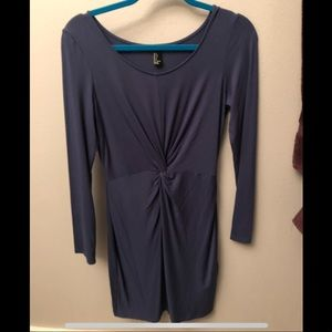 Bodycon dress with cute tie detail in middle